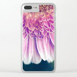Painted Gerber Daisy Clear iPhone Case