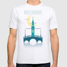 Amsterdam SMALL Ash Grey Mens Fitted Tee