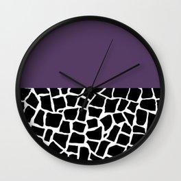 British Mosaic Purple Boarder Wall Clock