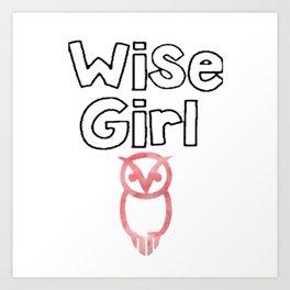 wise girl Art Print