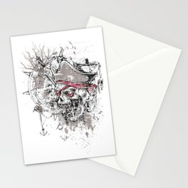 Skull Pirate - arrr, matey! Stationery Cards
