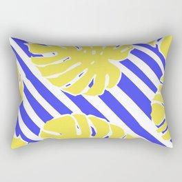 Monstera Leaf - Matisse Inspired Tropical Collage Pattern Rectangular Pillow