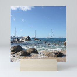 Sailing Boats at the Baths, BVI Mini Art Print