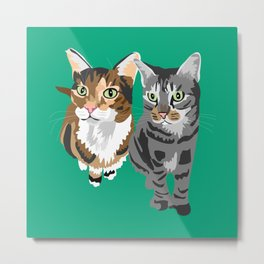 Scout and Ernest Metal Print