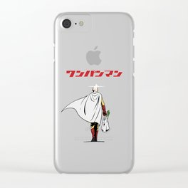 One Punch Man Grocery Clear iPhone Case