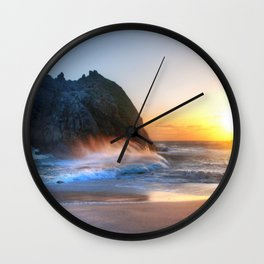 Waves Sunset Wall Clock