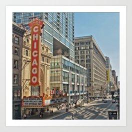 Theatre in Chicago Art Print