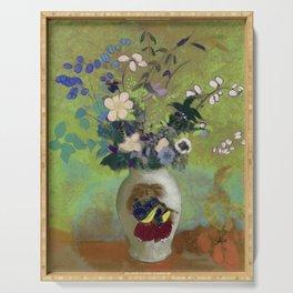 """Odilon Redon """"Vase Au Guerrier Japonais"""" Serving Tray"""