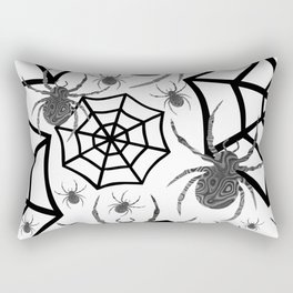 Black And White Halloween Rectangular Pillow