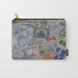 Canadian Pride Vintage Postage Stamp Collection From Canada Carry-All Pouch