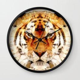 abstract tiger Wall Clock