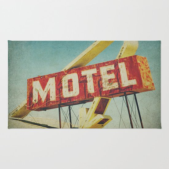 Thrashed Motel Sign Rug