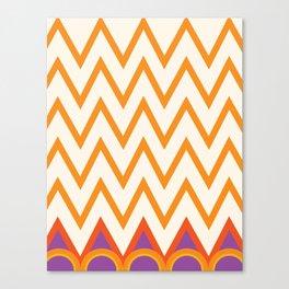 chevron zig zags Canvas Print