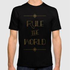 rule the world MEDIUM Mens Fitted Tee Black