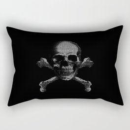 Hacker Skull and Crossbones Rectangular Pillow
