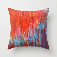 argentina Throw Pillows featuring Argentina by Jeannette Stutzman