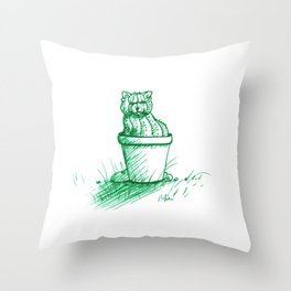 Catctus Throw Pillow