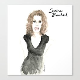 Sandra portrait Canvas Print