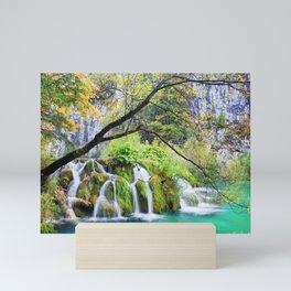 Waterfall in Plitvice Lakes in Croatia Mini Art Print