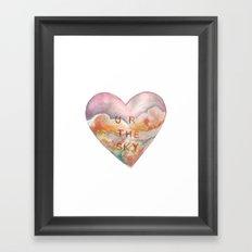 Conversation Heart Framed Art Print