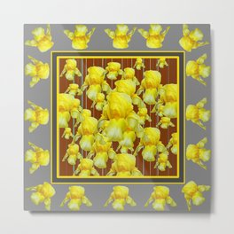 """FOR LOVE OF YELLOW IRIS"" Metal Print"