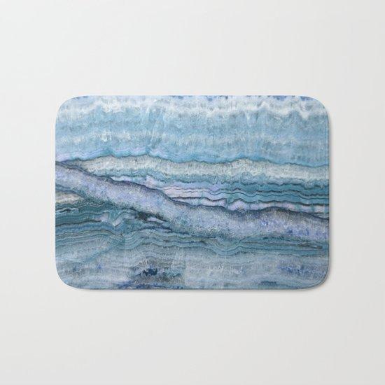 Mystic Stone Aqua Blue Bath Mat