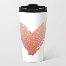 heart of rosegold Metal Travel Mug