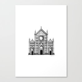 Basilica Di Santa Croce - Firenze Canvas Print