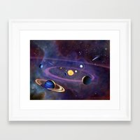 solar system Framed Art Prints featuring Solar System by Ralf Schoofs