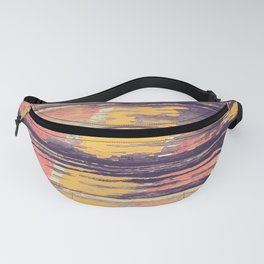 Weathered Painted Wood Wall Fanny Pack