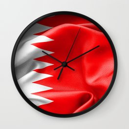 Qatar Flag Wall Clock