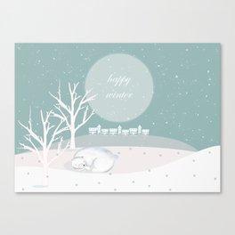 winter polar bear Canvas Print