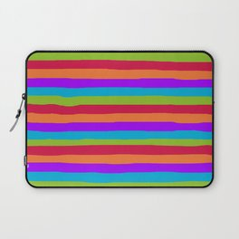 lumpy or bumpy lines abstract and summer colorful - QAB273 Laptop Sleeve