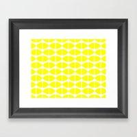 Lemons Pattern Framed Art Print