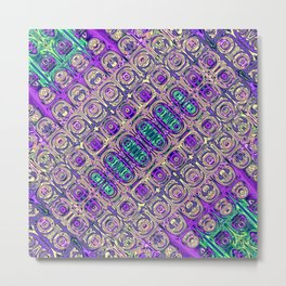 Colorful Glass Beads Abstract Metal Print