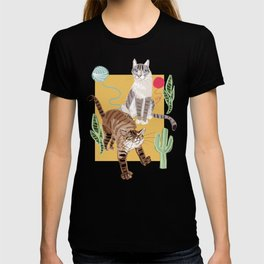 Whiskers and Yarn cadet blue T-shirt