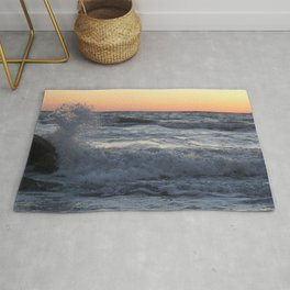 On The Rocks At Dusk At Fort DeSoto Beach Rug