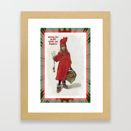 Wishing You Health Wealth and Happiness Greeting Card Framed Art Print