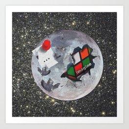 The Moon is Edible Art Print