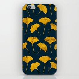 Yellow ginkgo leaves pattern iPhone Skin