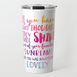 Good thoughts - colorful lettering Travel Mug