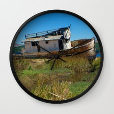 Point Reyes Shipwreck Wall Clock