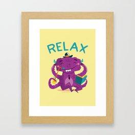 :::Relax Monster::: Framed Art Print