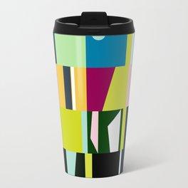 mid century abstract Metal Travel Mug