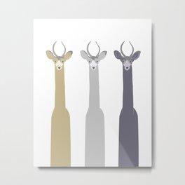 Triple Deers Metal Print