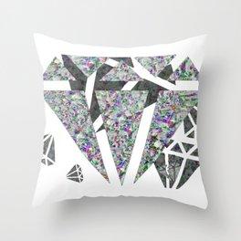 Dead diamonds Throw Pillow