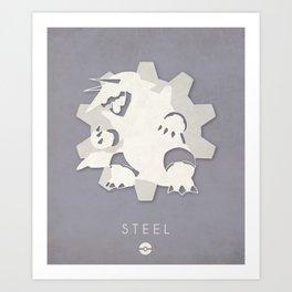 POKÉMON Steel Art Print