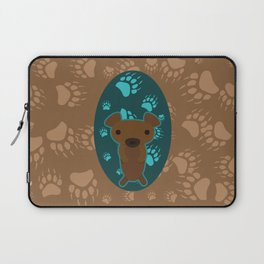 Bear with Paw Prints Laptop Sleeve