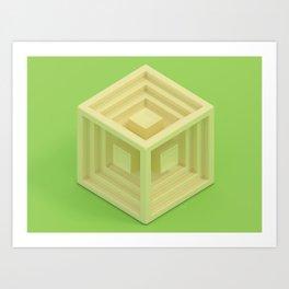 Cube 1 Art Print