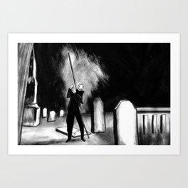 Lightning Rod Impales The Soul  Art Print